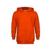 Youth Orange Fleece Hoodie-Select-A-Logo