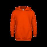 Youth Orange Fleece Hoodie-Select-A-Logo
