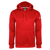 Under Armour Red Performance Sweats Team Hood-Select-A-Logo
