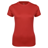 Ladies Syntrel Performance Red Tee-Select-A-Logo