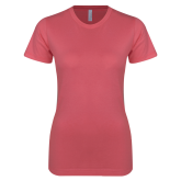 Next Level Ladies SoftStyle Junior Fitted Pink Tee-Select-A-Logo