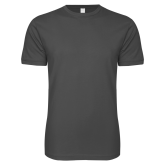 SoftStyle Charcoal T Shirt-Select-A-Logo