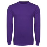 ACU Wildcat Purple Long Sleeve T Shirt-Select-A-Logo