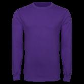 Purple Long Sleeve T Shirt-Select-A-Logo