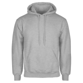 Grey Fleece Hoodie-Select-A-Logo