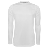 Under Armour White Long Sleeve Tech Tee-Select-A-Logo