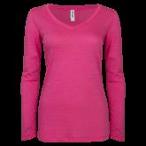 Maricopa Comm ENZA Ladies Hot Pink Long Sleeve V Neck Tee-Select-A-Logo