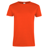 Ladies Orange T Shirt-Select-A-Logo