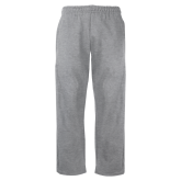 Grey Fleece Open Bottom Pant-Select-A-Logo