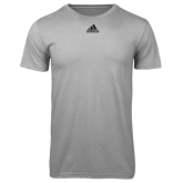 Adidas Climalite Sport Grey Ultimate Performance Tee-Select-A-Logo