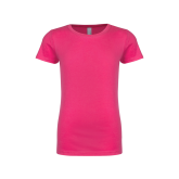 Youth Girls Fuchsia Fashion Fit T Shirt-Select-A-Logo