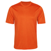 Performance Orange Heather Contender Tee-Select-A-Logo