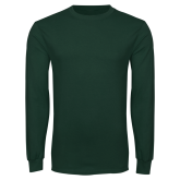 Dark Green Long Sleeve T Shirt-Select-A-Logo