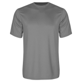 Performance Grey Concrete Tee-Select-A-Logo