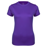 Ladies Syntrel Performance Purple Tee-Select-A-Logo