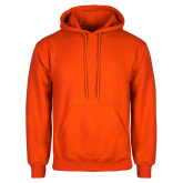 Orange Fleece Hood-Select-A-Logo