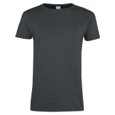 Ladies Dark Heather T Shirt-Select-A-Logo