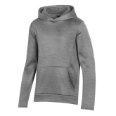 Youth Under Armour Grey Fleece Hoodie-Select-A-Logo