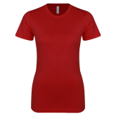 Next Level Ladies SoftStyle Junior Fitted Cardinal Tee-Select-A-Logo