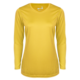 Ladies Syntrel Performance Gold Longsleeve Shirt-Select-A-Logo