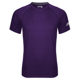Adidas Climalite Purple Ultimate Performance Tee-Select-A-Logo