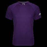 Adidas Climalite Purple Ultimate Performance Tee-Select-A-Logo