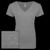 ENZA Ladies Graphite Melange V Neck Tee-Select-A-Logo