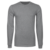 Grey Long Sleeve T Shirt-Select-A-Logo