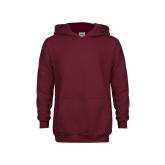 Youth Maroon Fleece Hoodie-Select-A-Logo