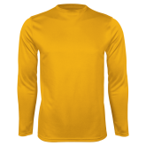Performance Gold Longsleeve Shirt-Select-A-Logo