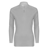 Ladies Syntrel Interlock Platinum 1/4 Zip-Select-A-Logo