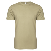 Next Level SoftStyle Khaki T Shirt-Select-A-Logo