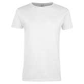 College Ladies White T Shirt-Select-A-Logo