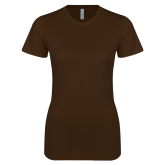 Next Level Ladies SoftStyle Junior Fitted Dark Chocolate Tee-Select-A-Logo