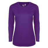 Ladies Syntrel Performance Purple Longsleeve Shirt-Select-A-Logo