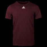 Adidas Maroon Logo T Shirt-Select-A-Logo