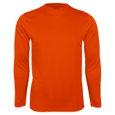 Syntrel Performance Orange Longsleeve Shirt-Select-A-Logo