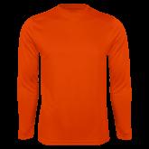 Performance Orange Longsleeve Shirt-Select-A-Logo