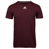 Adidas Climalite Maroon Ultimate Performance Tee-Select-A-Logo