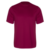 Performance Maroon Tee-Select-A-Logo