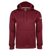 Under Armour Maroon Performance Sweats Team Hood-Select-A-Logo