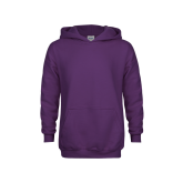 Youth Purple Fleece Hoodie-Select-A-Logo