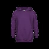 Youth Purple Fleece Hoodie-Select-A-Logo