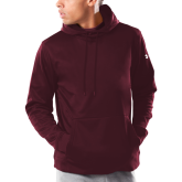 Under Armour Maroon Armour Fleece Hoodie-Select-A-Logo