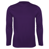 Performance Purple Longsleeve Shirt-Select-A-Logo