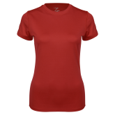 Ladies Syntrel Performance Cardinal Tee-Select-A-Logo