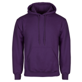 Purple Fleece Hood-Select-A-Logo