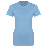 Ladies SoftStyle Junior Fitted Light Blue Tee-Select-A-Logo