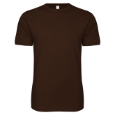 Next Level SoftStyle Brown T Shirt-Select-A-Logo