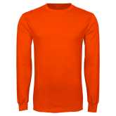 Orange Long Sleeve T Shirt-Select-A-Logo